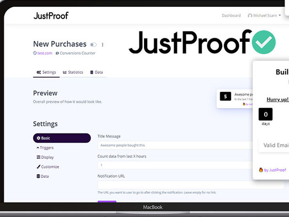 JustProof Social Proof Notifier Startup Plan: 3-Yr Subscription