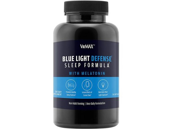 VirMAX Blue Light Defense Sleep Formula, Sleep Aid, Supports Natural Production Of Melatonin, 30 Capsules