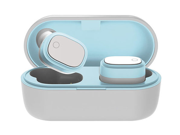 Coby True Wireless Earbuds (White/Blue)